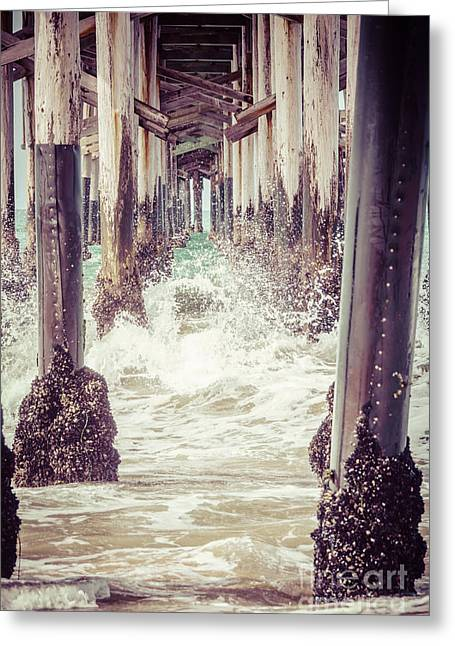 Beneath Greeting Cards - Under the Pier Vintage California Picture Greeting Card by Paul Velgos