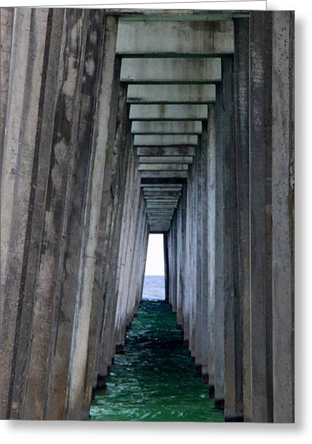 T Street Beach Greeting Cards - Under the Pier Greeting Card by William Tucker