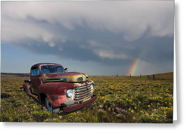 Wildfowers Greeting Cards - Under The Rainbow Greeting Card by Heather Simonds