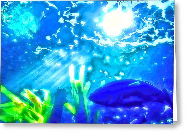 Under The Sea Illumination Greeting Card by Tracie Kaska