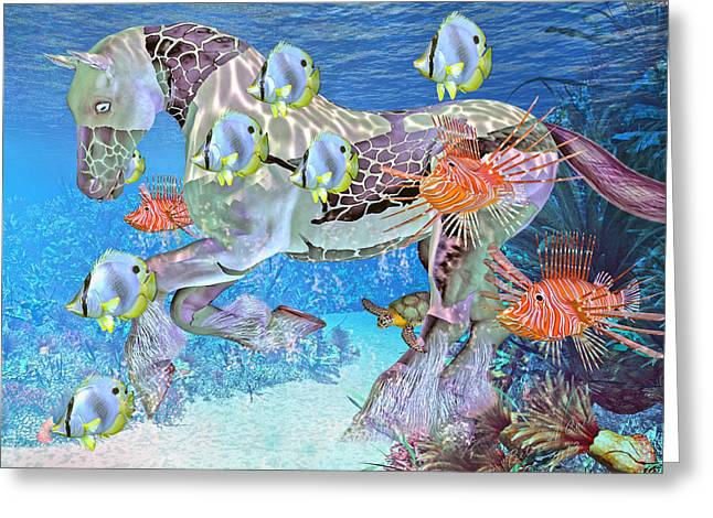 Kelp Greeting Cards - Under the Sea IV Greeting Card by Betsy C  Knapp