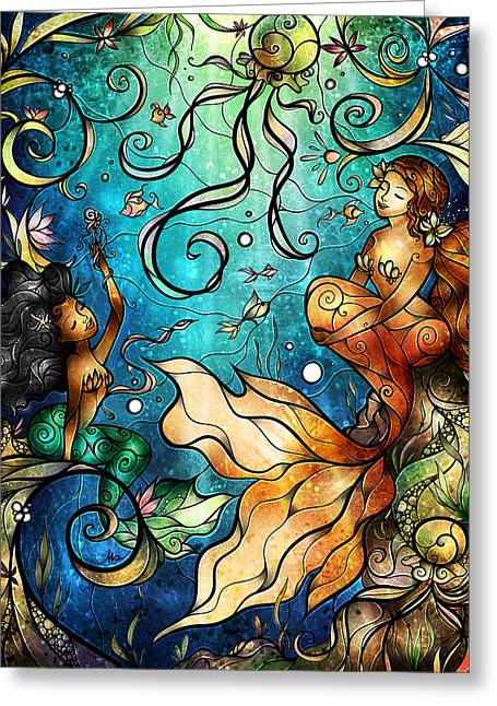 Under The Sea Mermaid Greeting Cards - Under the Sea Greeting Card by Mandie Manzano