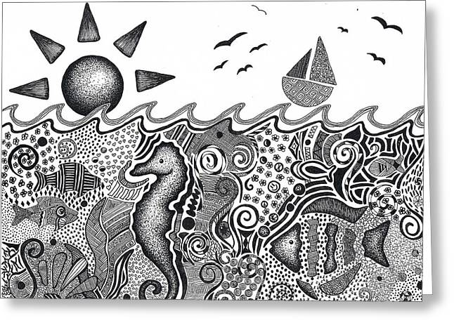 Pen Greeting Cards - Under The Sea Greeting Card by Marie Wern