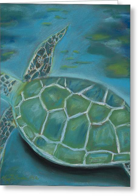 Diving Pastels Greeting Cards - Under the Sea Greeting Card by Mary Benke