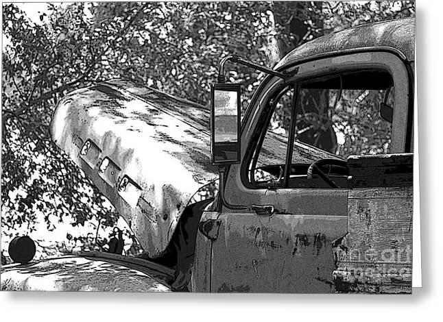 Subcompact Greeting Cards - Under The Shade Tree Greeting Card by Joe Russell
