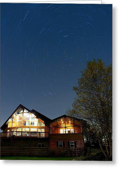 Residential Structure Greeting Cards - Under the stars Greeting Card by Alexey Stiop