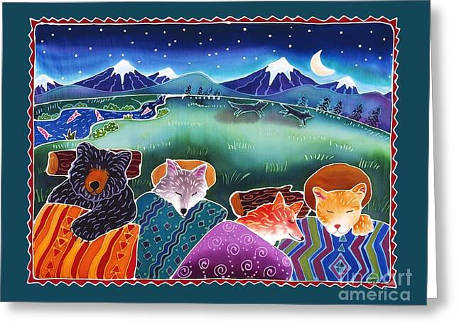 Star Nursery Greeting Cards - Under the Stars Greeting Card by Harriet Peck Taylor