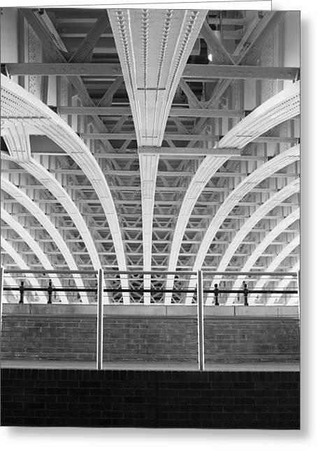 Hogan Bridge Greeting Cards - Under The Station - ref 1046 Greeting Card by Colin Hogan