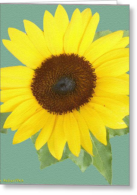 Patricia Keller Greeting Cards - Under The Sunflowers Spell Greeting Card by Patricia Keller