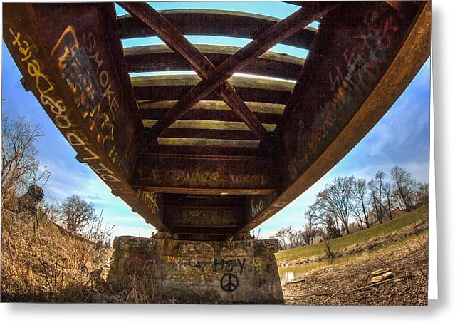 Indiana Photography Greeting Cards - Under the Trax Greeting Card by Jackie Novak
