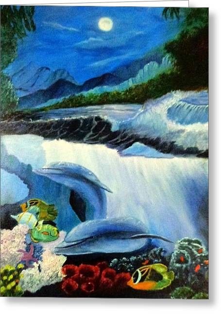 Hawii Greeting Cards - Under the Waves Greeting Card by Janis  Tafoya