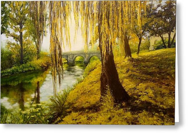 Under The Willow Greeting Card by Svetla Dimitrova