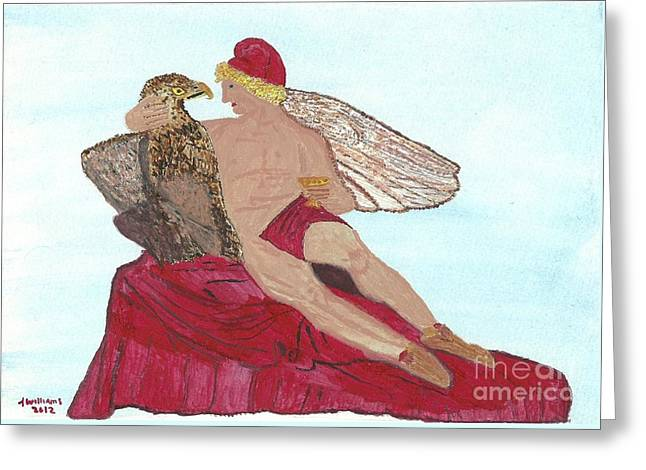 Pray Sculptures Greeting Cards - Under the Wings of Love Greeting Card by Tracey Williams