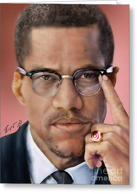 Black Leaders. Greeting Cards - Under The X Factor 2 Greeting Card by Reggie Duffie