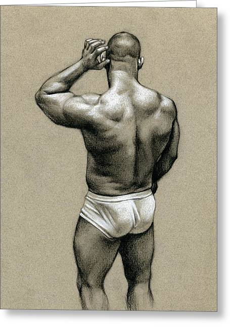 Nude Drawings Greeting Cards - Under White Greeting Card by Chris  Lopez