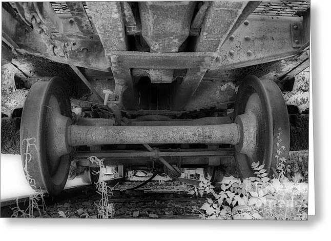 Train Rides Greeting Cards - Undercarriage Greeting Card by Skip Willits