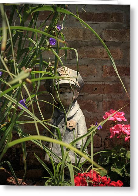 Garden Statuary Greeting Cards - Undercover Greeting Card by Kathleen Scanlan
