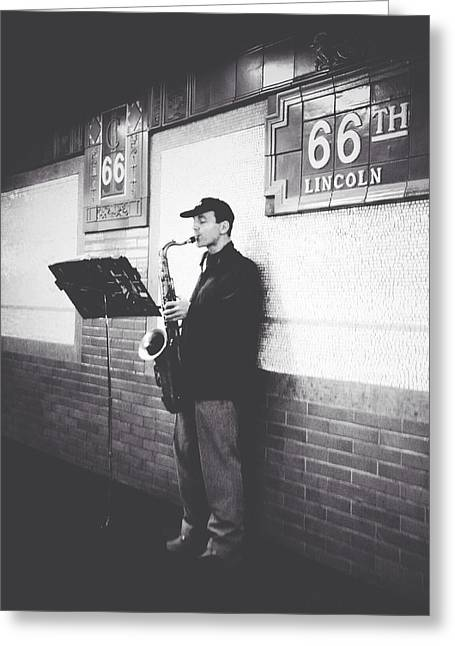 Lincoln Center Greeting Cards - Underground Brass Greeting Card by Natasha Marco