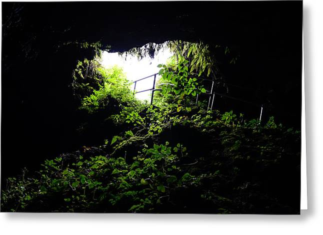 Underground Cave Greeting Card by Brandon Bourdages