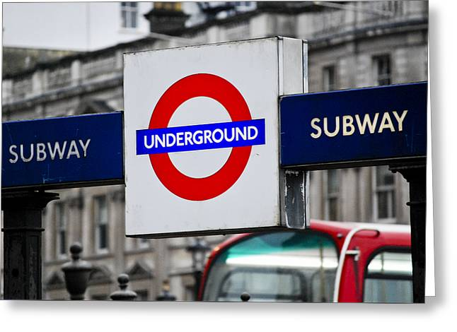Transport For London Greeting Cards - Underground Greeting Card by Christi Kraft