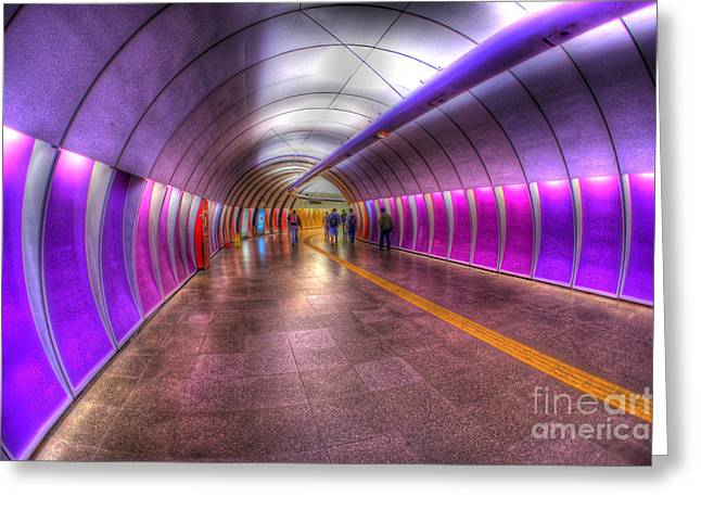 Underground Colors Greeting Card by Will Cardoso