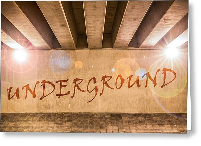 Undercover Greeting Cards - Underground Greeting Card by Semmick Photo