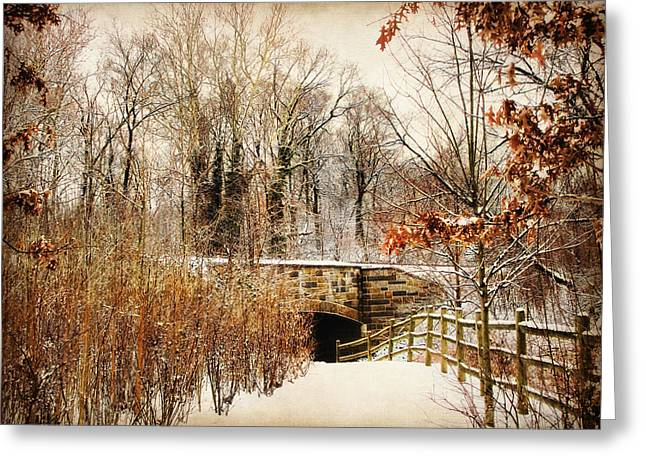 Winter Trees Digital Greeting Cards - Underhill Crossing Greeting Card by Jessica Jenney