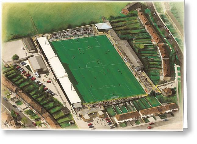 Soccer Greeting Cards Greeting Cards - Underhill Stadium - Barnet Greeting Card by Kevin Fletcher