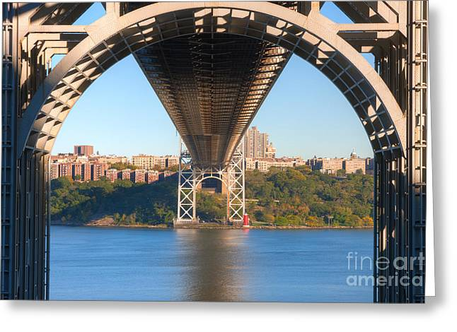 S-hooks Greeting Cards - Underneath the George Washington Bridge I Greeting Card by Clarence Holmes