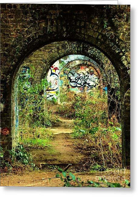 Underneath The Railway Arches Greeting Card by C Lythgo