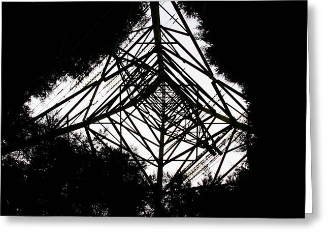 Underpowered Silhouette Greeting Card by Kevin F Cook