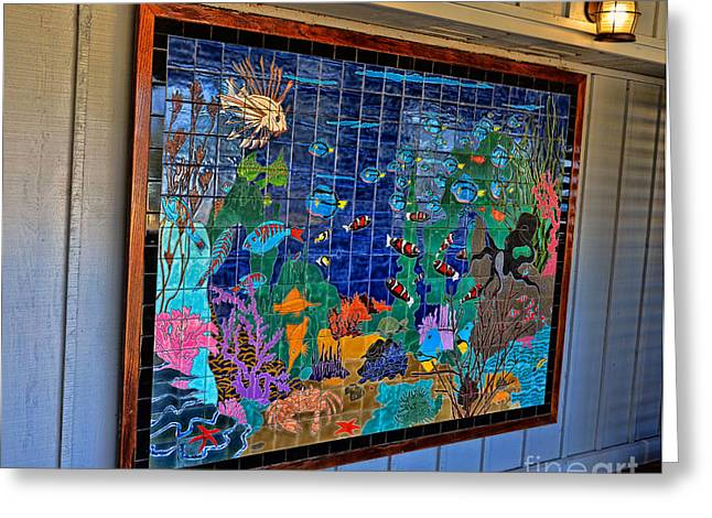 Undersea Photography Greeting Cards - Undersea Mural Greeting Card by David Lawson