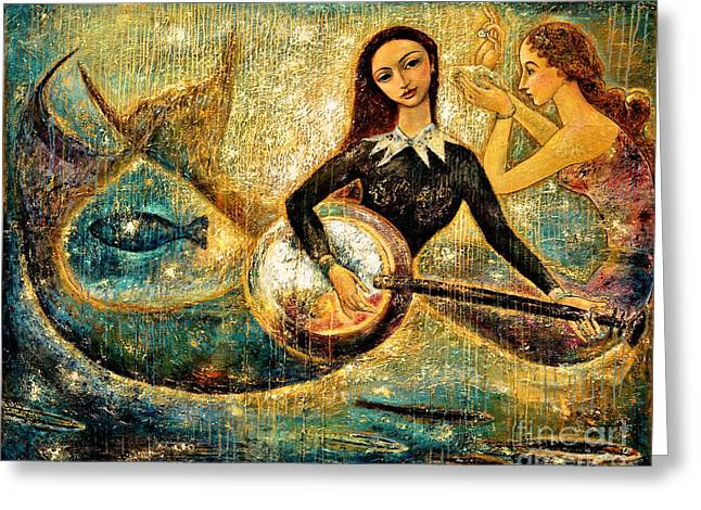 Oil Mixed Media Greeting Cards - UnderSea Greeting Card by Shijun Munns
