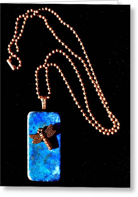 Insects Jewelry Greeting Cards - Understanding Truth Domino Pendant Greeting Card by Beverley Harper Tinsley