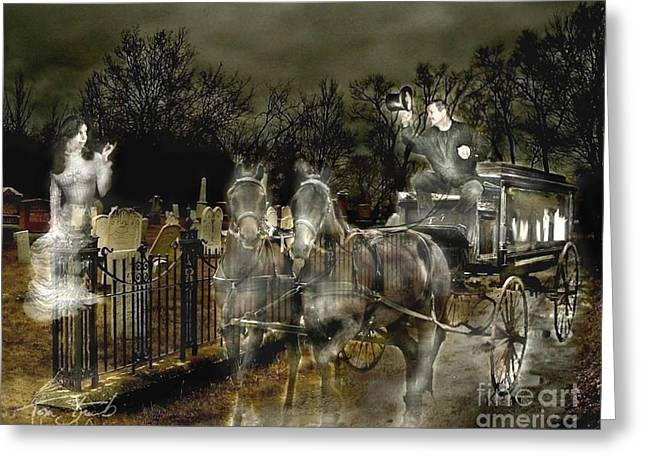 Grave Yard Greeting Cards - Undertaker Greeting Card by Tom Straub
