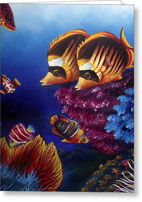 Fish Framed Prints Mixed Media Greeting Cards - Underwater-1 Greeting Card by Naushad  Waheed