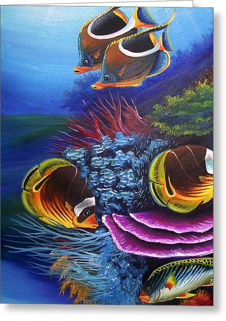 Fish Framed Prints Mixed Media Greeting Cards - Underwater - 2 Greeting Card by Naushad  Waheed