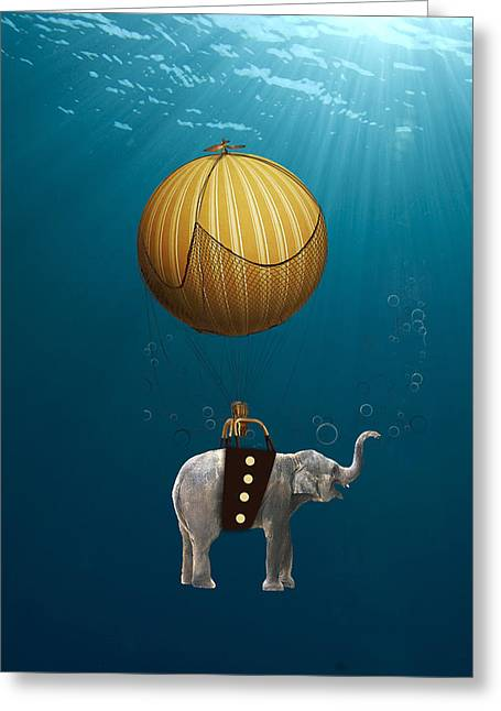 Underwater Fantasy Greeting Card by Marvin Blaine