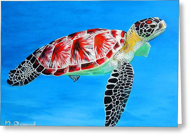 Underwater Photos Paintings Greeting Cards - Underwater Flight Greeting Card by Malcolm Regnard