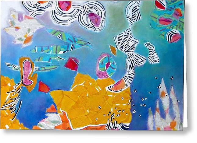 Underwater Flowers Greeting Card by Diane Fine