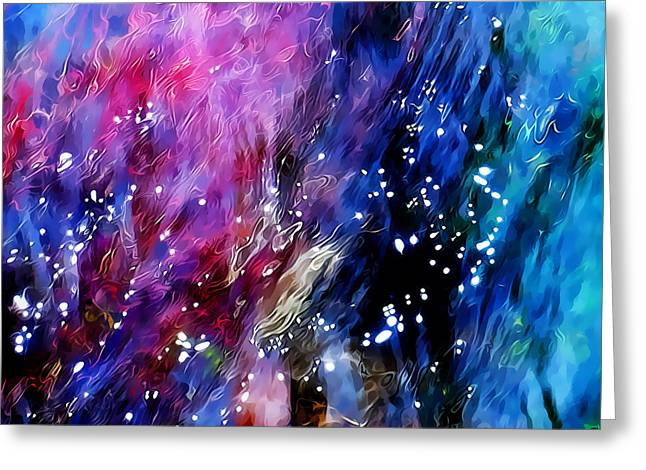 Clear Flowing Stream Greeting Cards - Underwater Galaxy Greeting Card by Terril Heilman