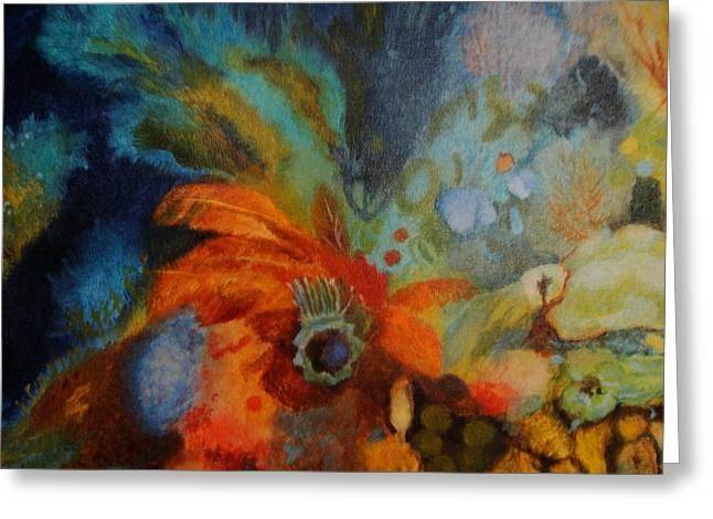 Jelly Fish Greeting Cards - Underwater Garden Greeting Card by Gudrun Hirsche