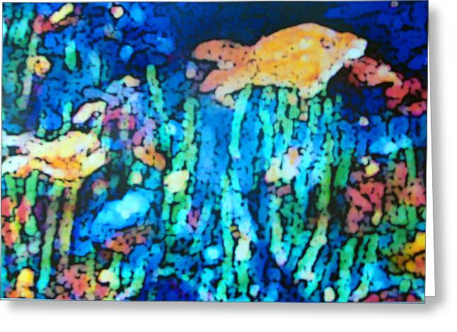 Aquatic Life Pastels Greeting Cards - Underwater Landscape Greeting Card by Tolere