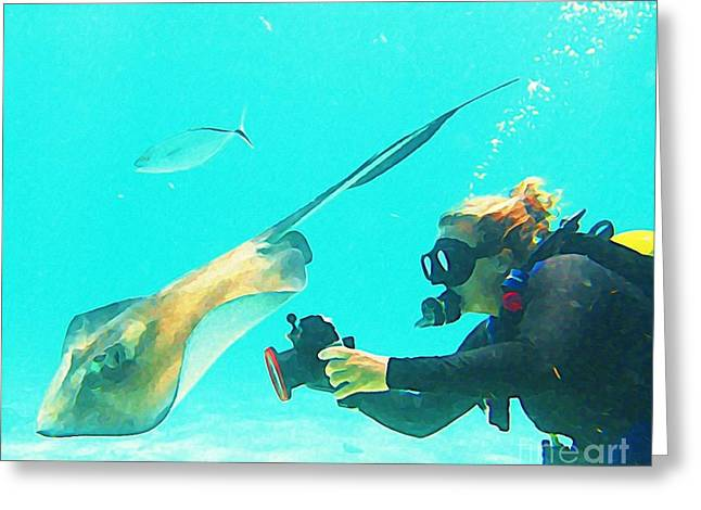 Jsm Fine Arts Greeting Cards - Underwater Photography Greeting Card by Halifax Artist John Malone