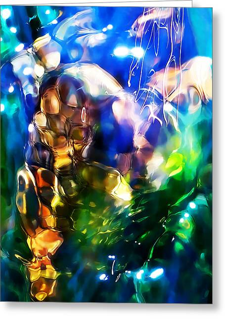 Clear Flowing Stream Greeting Cards - Underwater Playground 8 x 10 Greeting Card by Terril Heilman