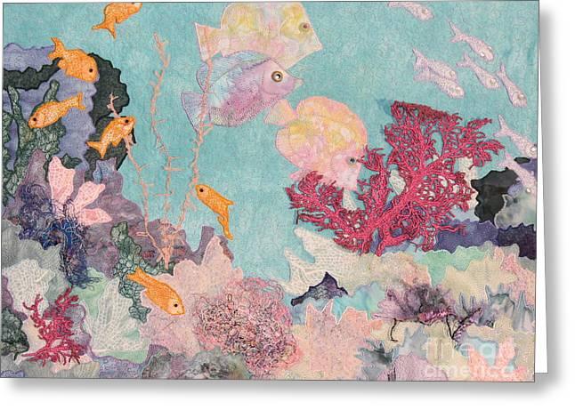 Ocean Scenes Tapestries - Textiles Greeting Cards - Underwater Splendor Greeting Card by Denise Hoag