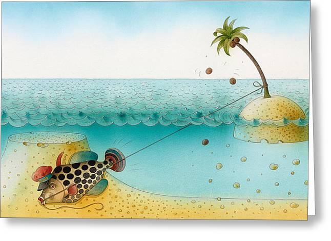 Sea Drawings Greeting Cards - Underwater Story 03 Greeting Card by Kestutis Kasparavicius