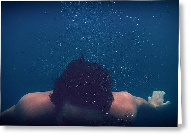 Swimmers Greeting Cards - Underwater Swimmer Greeting Card by Mountain Dreams