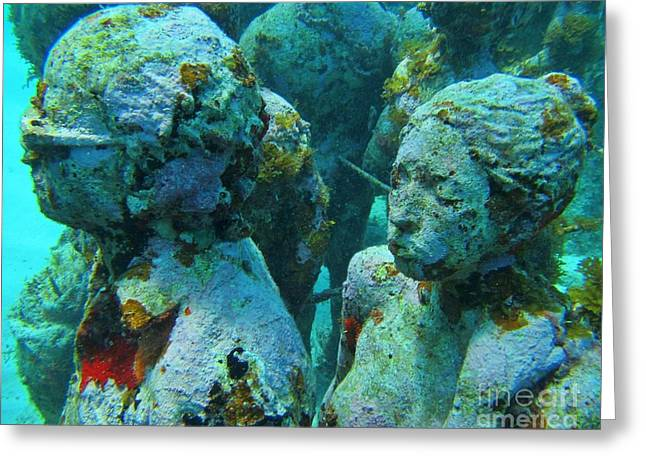 John Malone Artist Greeting Cards - Underwater Tourists Greeting Card by John Malone