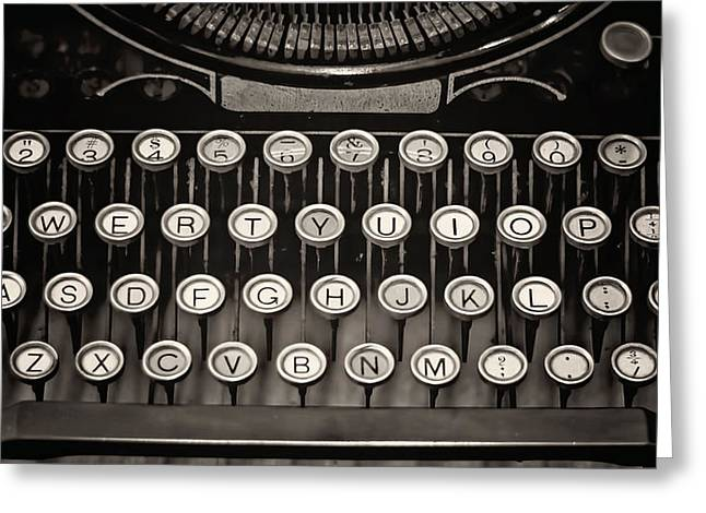 Editor Photographs Greeting Cards - Underwood Typewriter Greeting Card by Heather Applegate